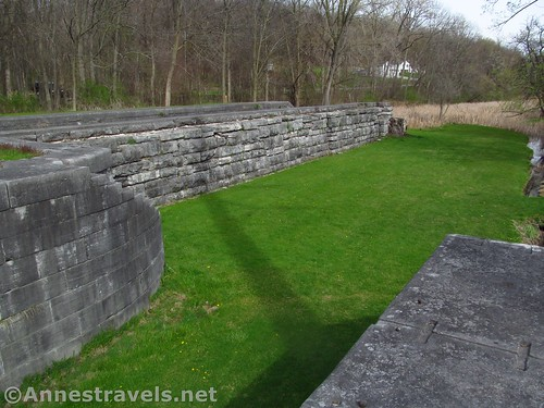 The eastbound lock at the Lock 60 Historic Site between Macedon and Palmyra, New York