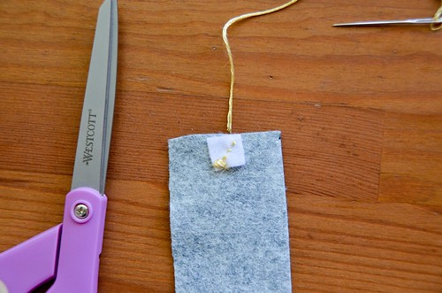 7. Repeat steps 3-5 for other half of Velcro, on the other end of the felt strip