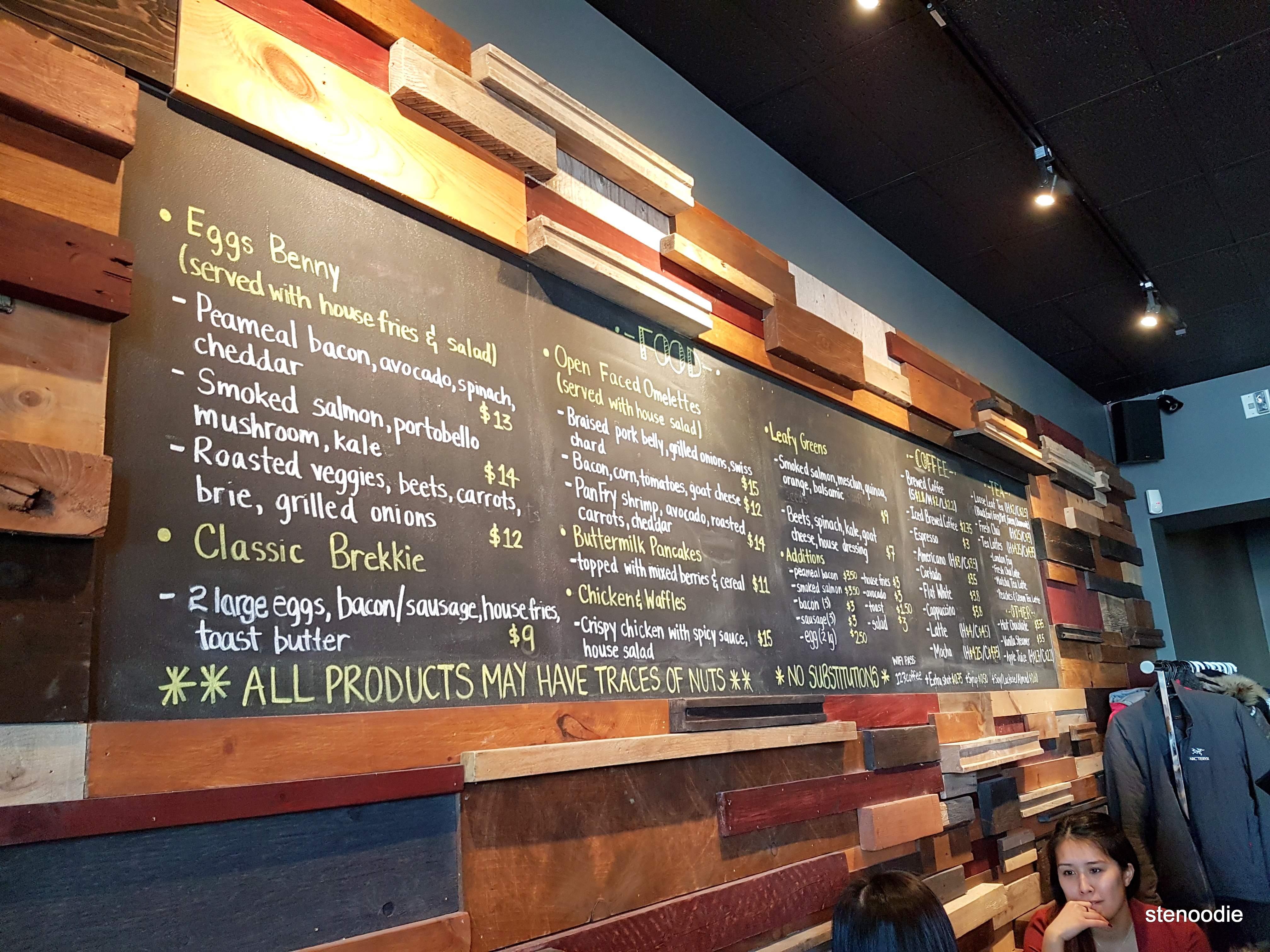 Alchemy Coffee Markham menu and prices