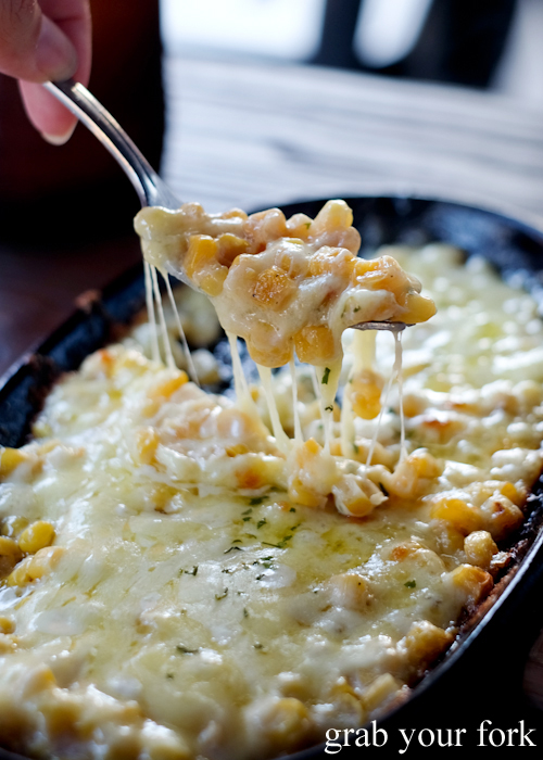 Cheesy corn mozzarella cheese with sweetcorn at Flying Tong in Enmore