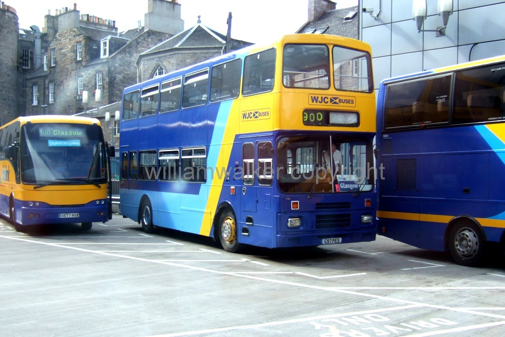 By WJC Buses G97 PES Edinburgh Bus Station 9 August 2006