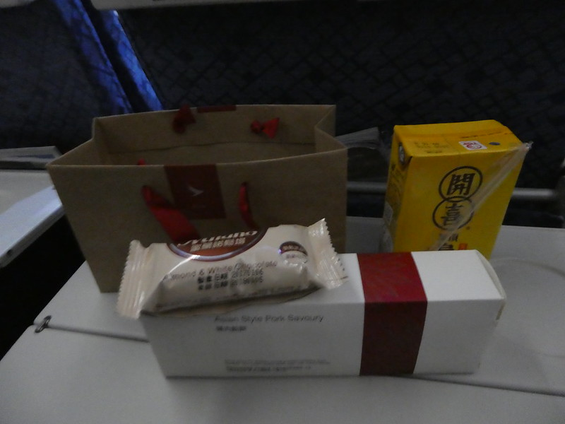 Snack on board Cathay Dragon flight from Taipei to Hong Kong