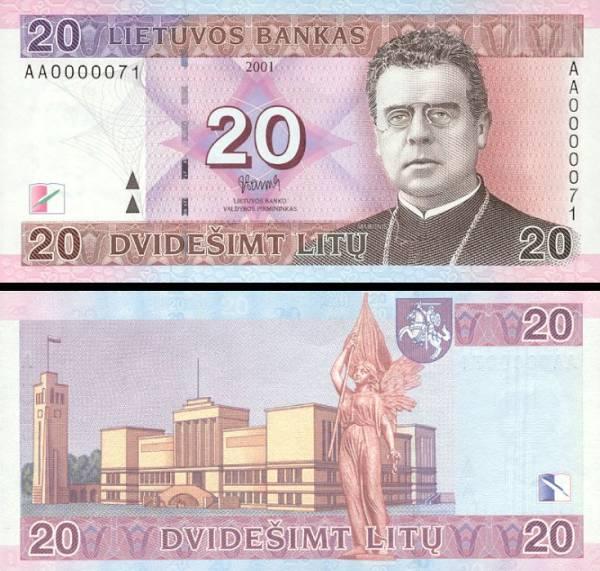 20 Litu Litva 2001, P66