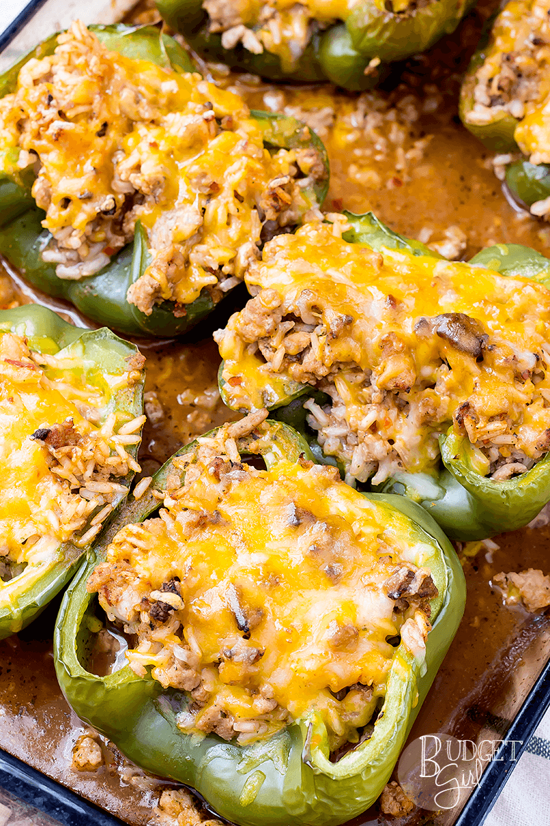 Easy 190-Calorie Turkey Stuffed Peppers