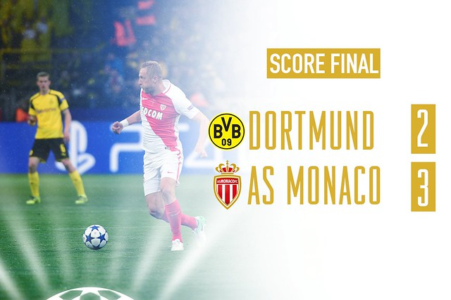 Champions League - Cuartos de Final (Ida): Borussia Dortmund 2 - AS Monaco 3