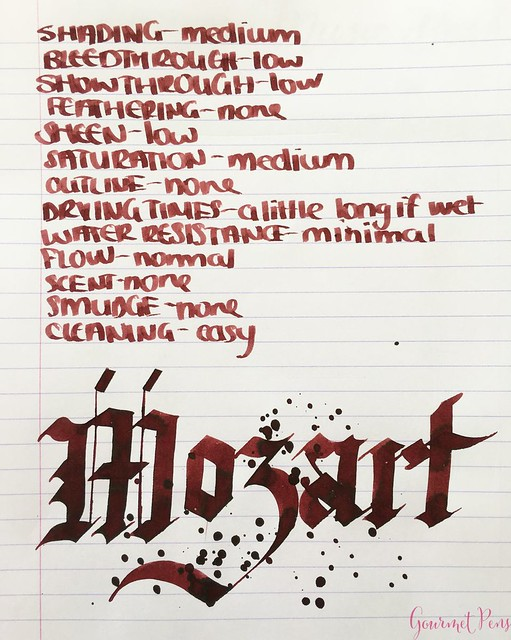 Ink Shot Review Diamine Music Mozart @AppelboomLaren 5