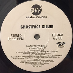 GHOSTFACE KILLER:MOTHERLESS CHILD(LABEL SIDE-A)