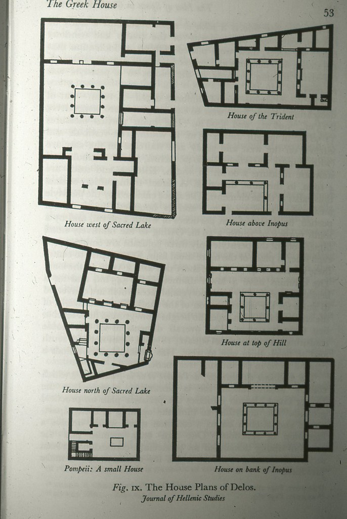 Greek House Plans Delos A Figure Used In A Lecture