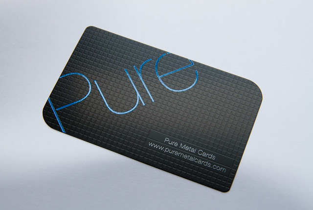 Pure Metal Cards Matte Black Business Card