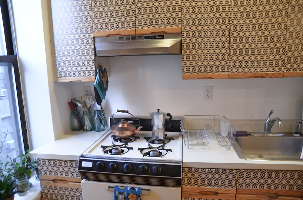 ... DIY Kitchen Cabinet Makeover For Renters | By Stacie Stacie Stacie