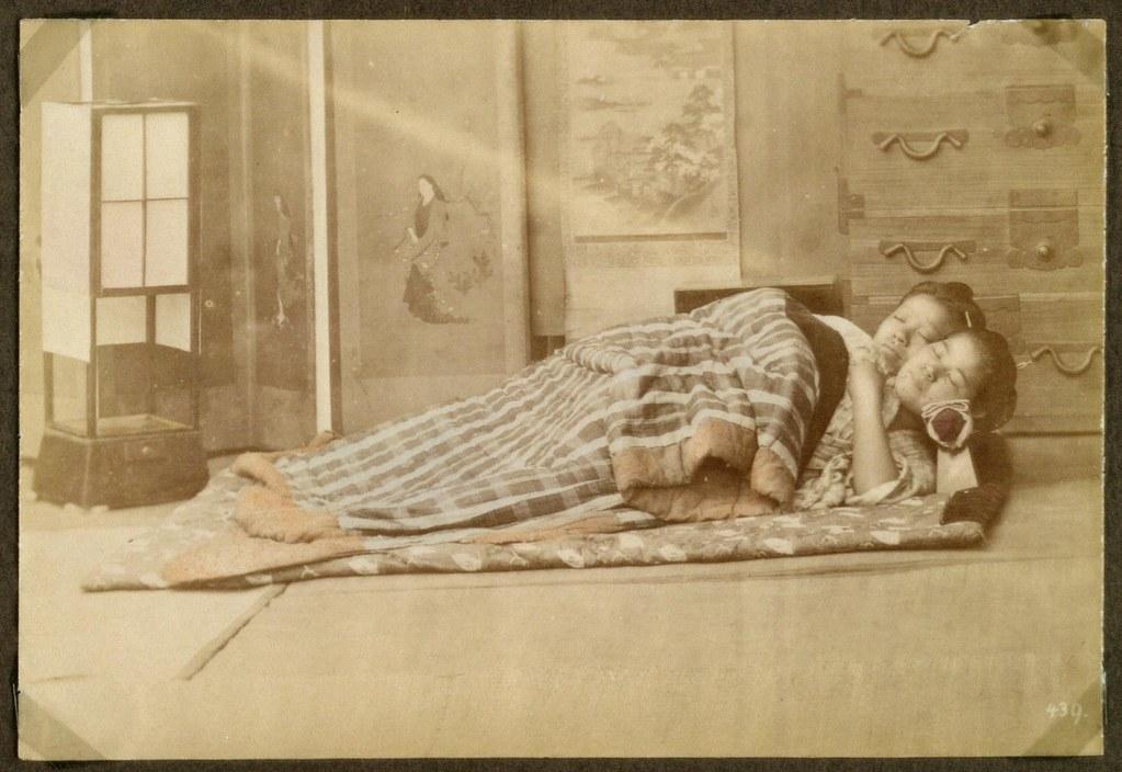 Makura The Wooden Pillow Sleeping Women With Their He