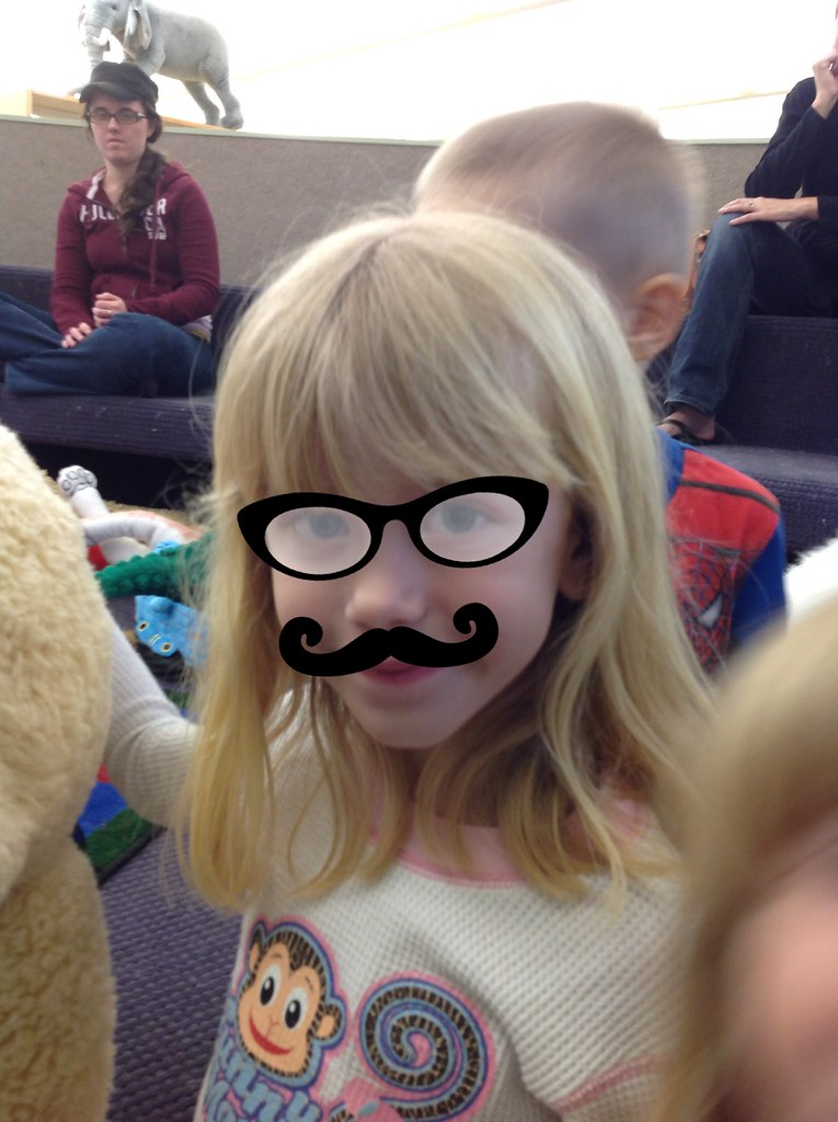 Mustaches at Storytime! | We used the Funny Face app at stor… | Flickr