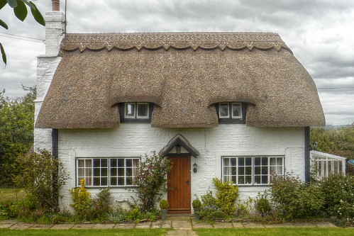Black and White thatched cottage
