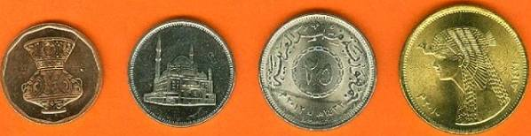 Egypt 5-10-25-50 Piastres 2008-2012 UNC