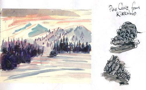 Sketchbook #102: Skiing Trip