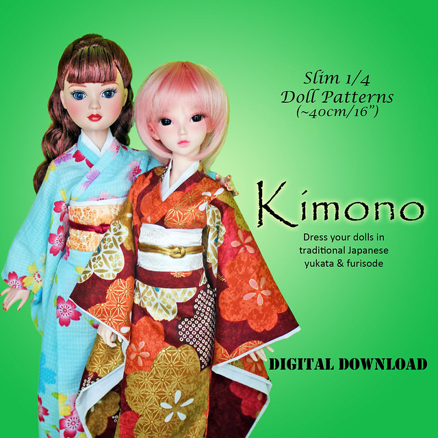 "Kimono for Slim MSD/16"" Western Fashion Dolls on Etsy"