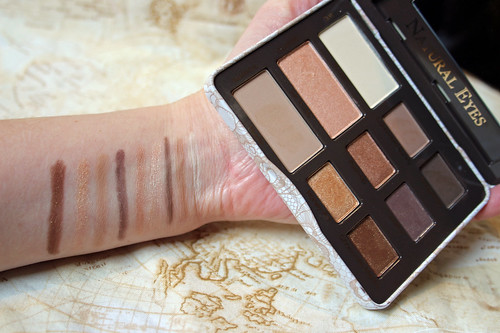 Too Faced Natural Eyes, swatches