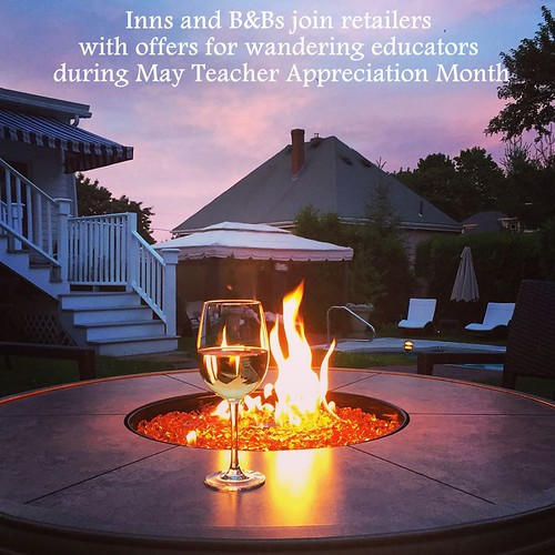 Inns and B&Bs join retailers with offers for wandering educators during May Teacher Appreciation Month