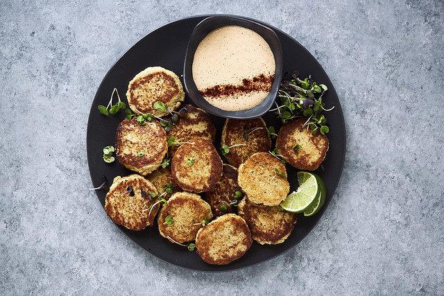 Grain-free Spicy Cauliflower Fritters