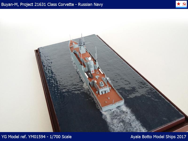 Corvette Buyan-M, Projet 21631 Marine Russe YG Model 1/700 34101867132_4e7fd90629_o