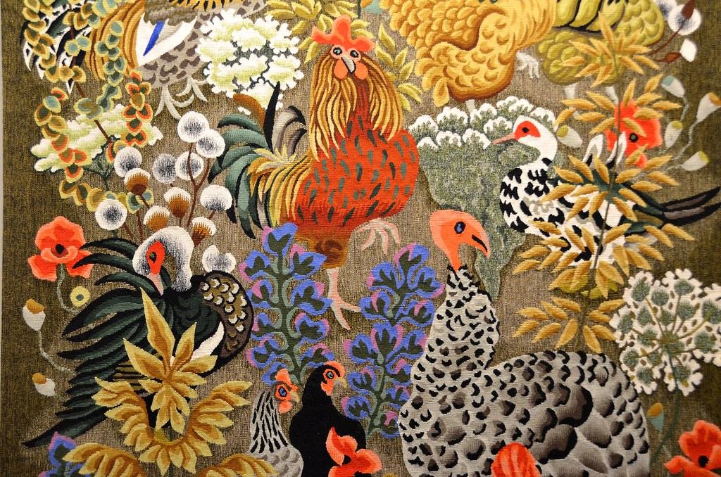 Tapisserie de dom robert carnaval carton de 1981 d ta - Galerie nationale de la tapisserie beauvais ...