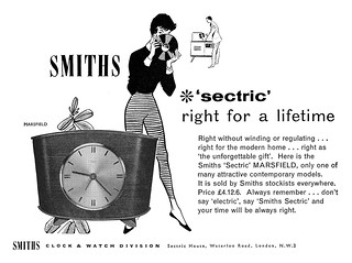 1958 Smiths Clocks ad | by totallymystified