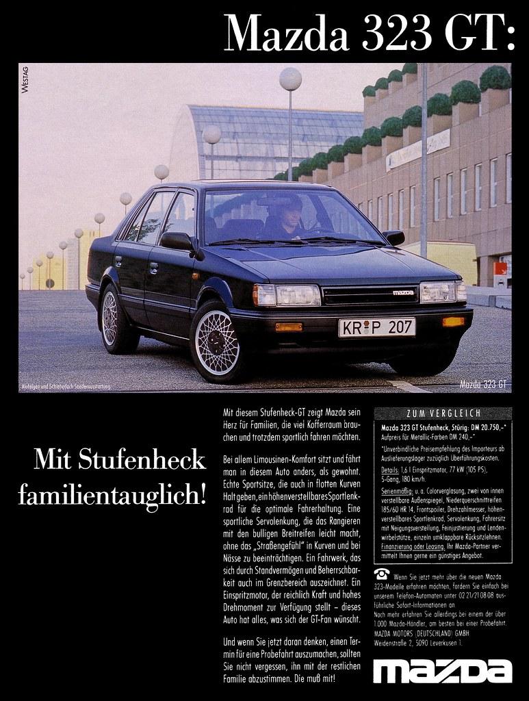 mazda 323 (1986) 1.6 gt: mit stufenheck familientauglich! …   flickr