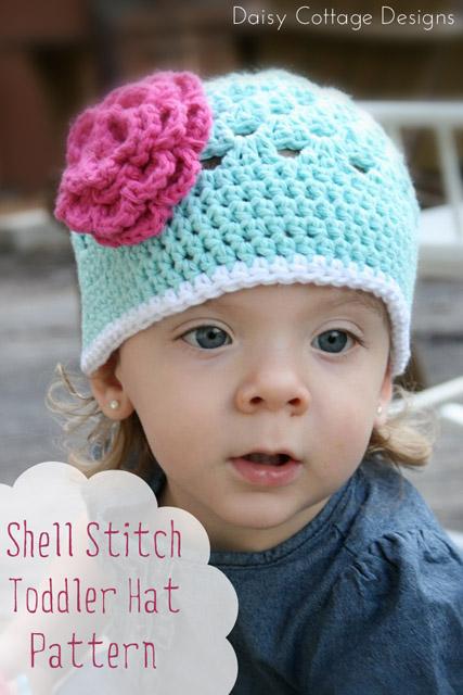 Crochet Hat Pattern Shell : Free Crochet Pattern {Shell Stitch Toddler Hat} Lauren ...