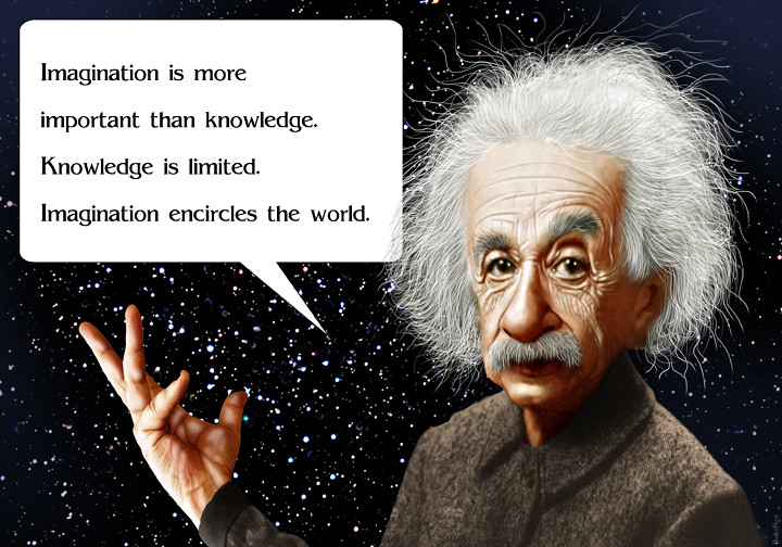 Albert Einstein - Caricature | Albert Einstein quote