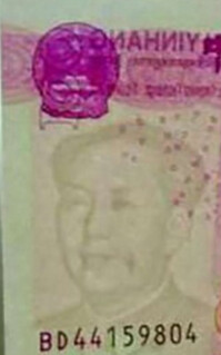 MAO'S MOLE: BANKNOTE ERROR REPORTED IN CHINA