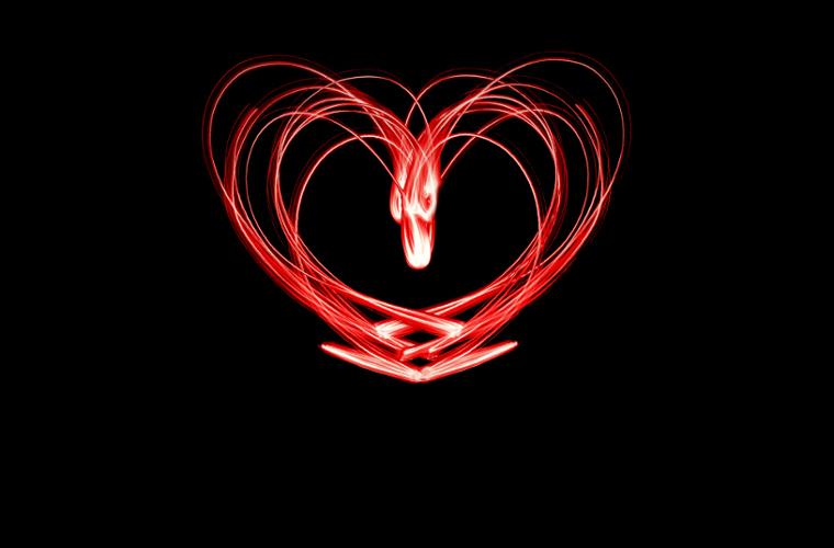 Fotografia em Palavras: Coração desenhado