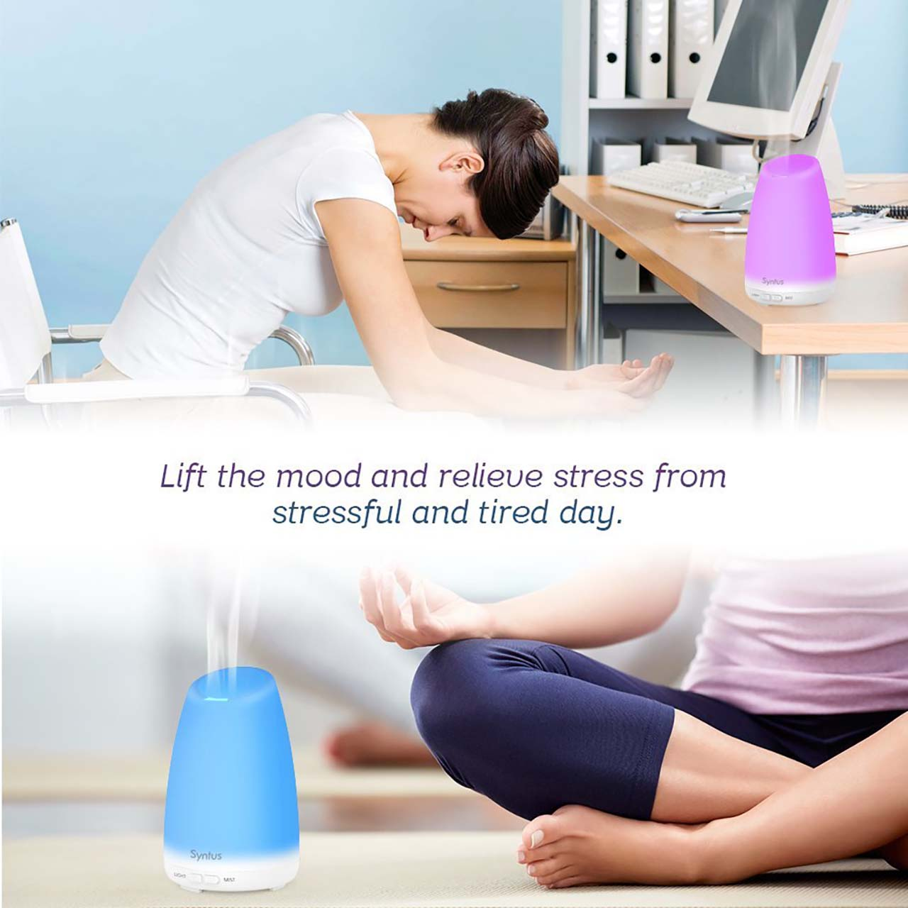 11 Classy Items You Can Buy Under $20 On Amazon #10: Ultrasonic Aromatherapy Diffuser