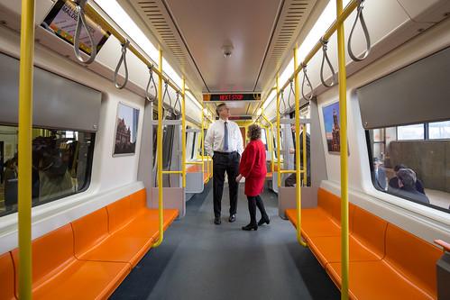 New Vehicles 2017 >> MBTA Orange Line Mock-Up 03.21.17   Governor Charlie Baker ...