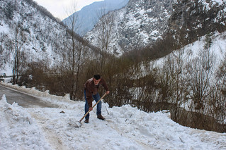 Cleaning up an avalanche, Rugova valley | by Timon91