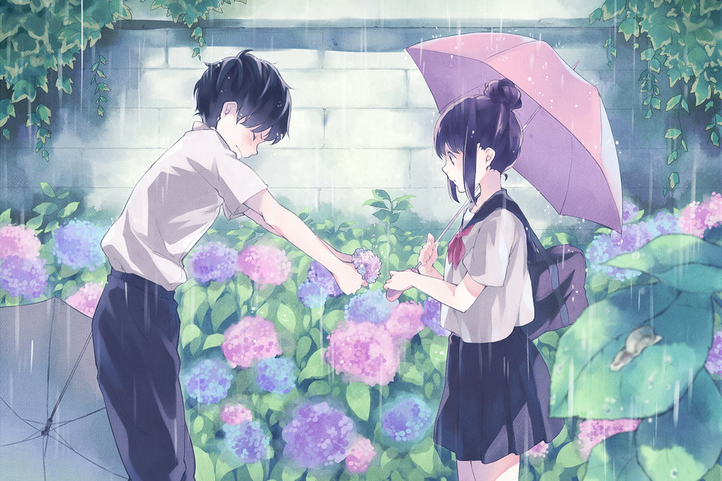Cute Anime Couple Hd Wallpapers By Hd Wallpapers Pop
