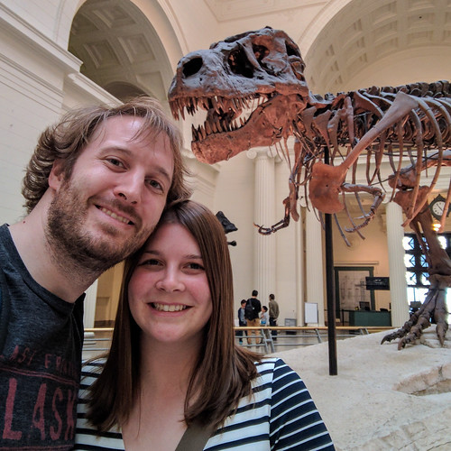 Amanda and Elliot at the Field Museum