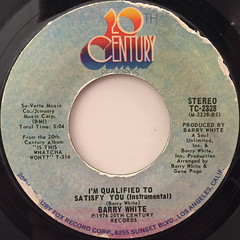 BARRY WHITE:I'M QUALIFIED TO SATISFY YOU(LABEL SIDE-B)