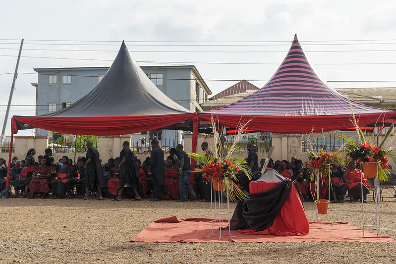 Ghana funerals are big affairs that can last many hours and cost thousands of dollars.