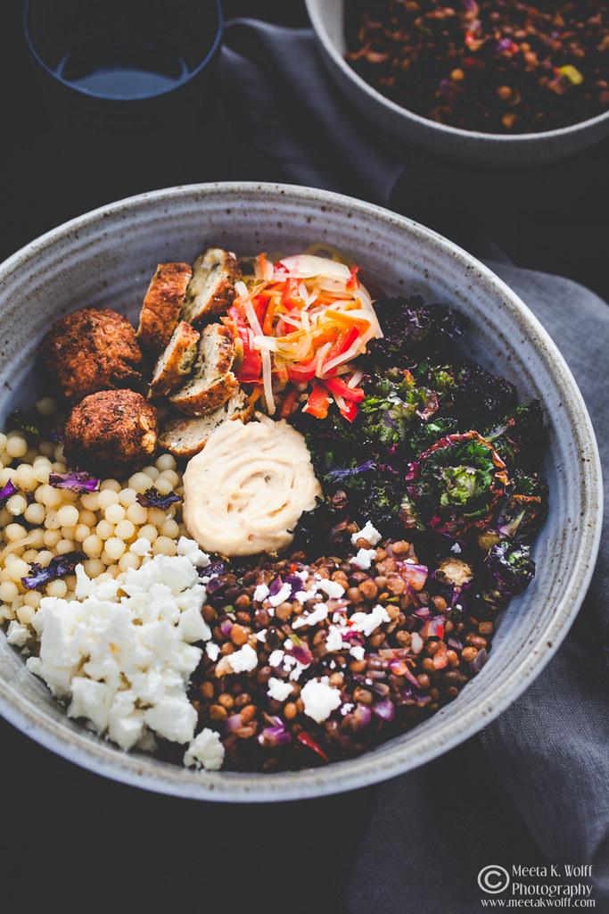 Buddha Bowl-Lentils Falafel GiantCouscous Kalettes Hummus-by Meeta K. Wolff-0028