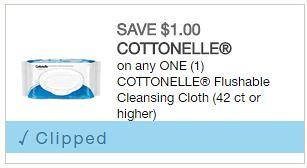 Cottonelle Flushable Wipes coupon