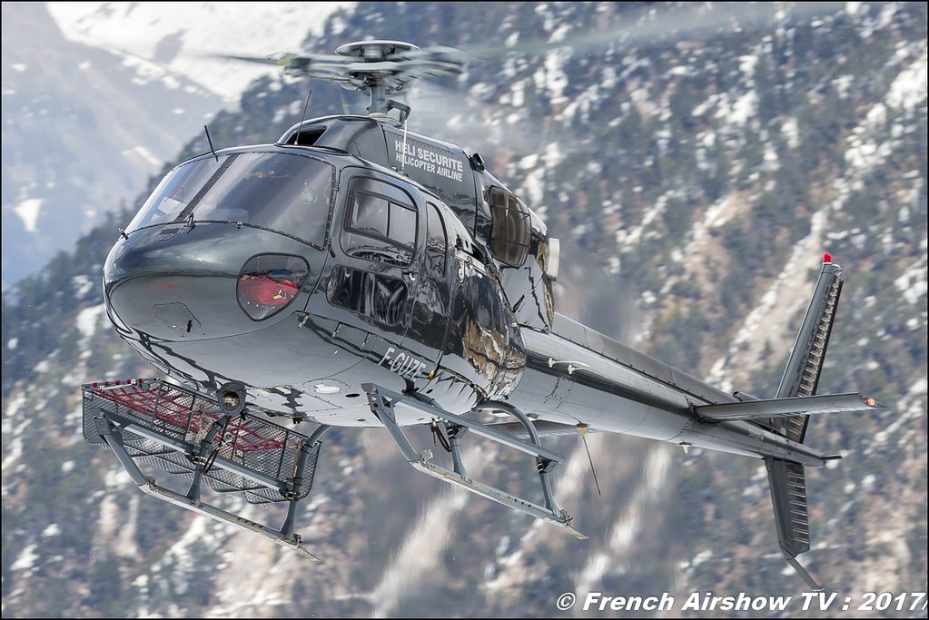 Aérospatiale AS-355N Ecureuil 2 - F-GUZE , Héli Securité - Helicopter Airline , Fly Courchevel 2017 , Hélico 2017