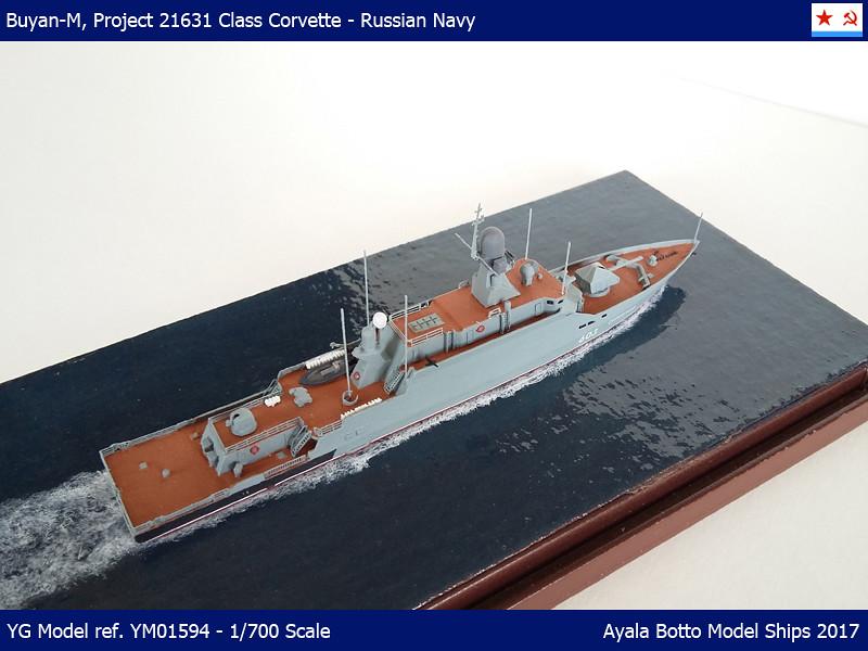 Corvette Buyan-M, Projet 21631 Marine Russe YG Model 1/700 34101867392_727e098338_b