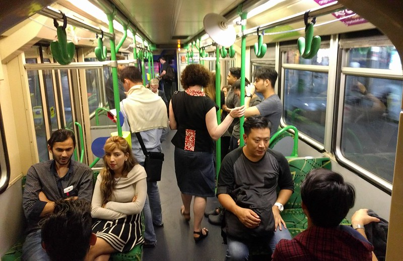 The 86 tram, 12:40am Saturday morning