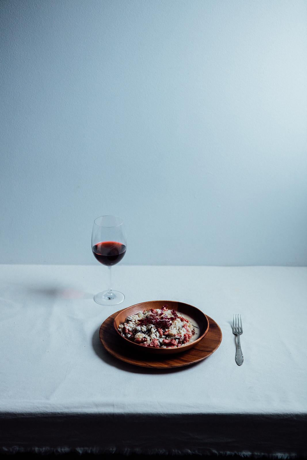 Risotto al Radicchio e Salsiccia