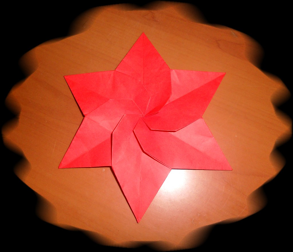 Origami Poinsettia Katrins18 Flickr