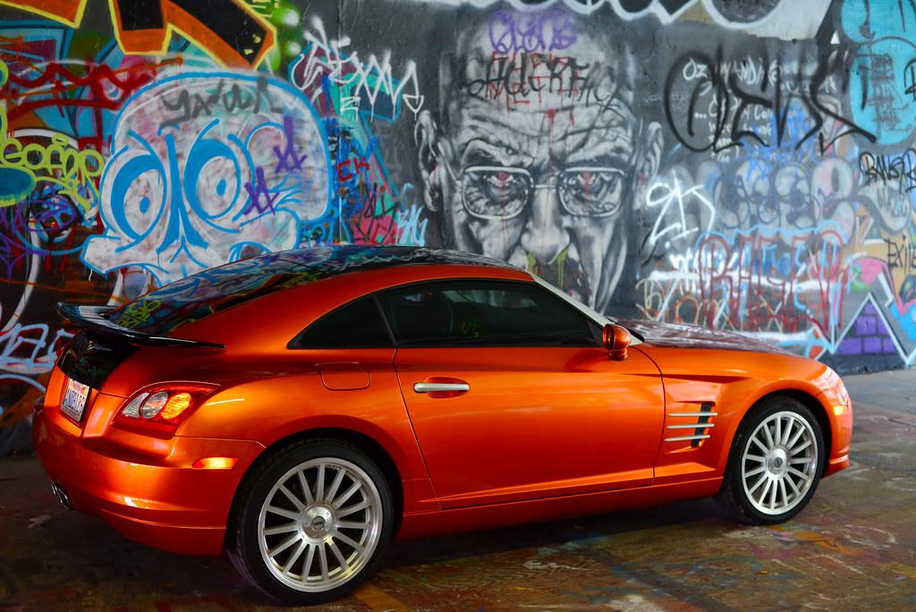 chrysler crossfire custom. chrysler crossfire custom orange paint graffiti garage tacoma washington by don briggs r