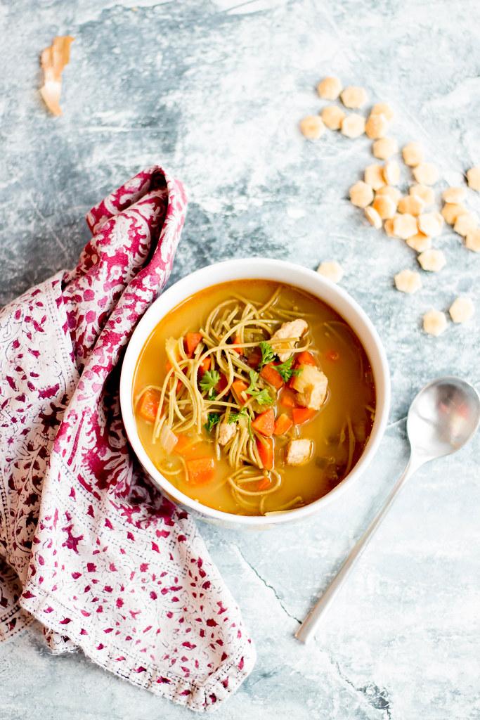 chikn' noodle soup // miso + nooch