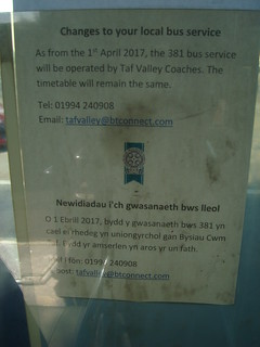 Pembrokeshire County Council bus service change of operator notice