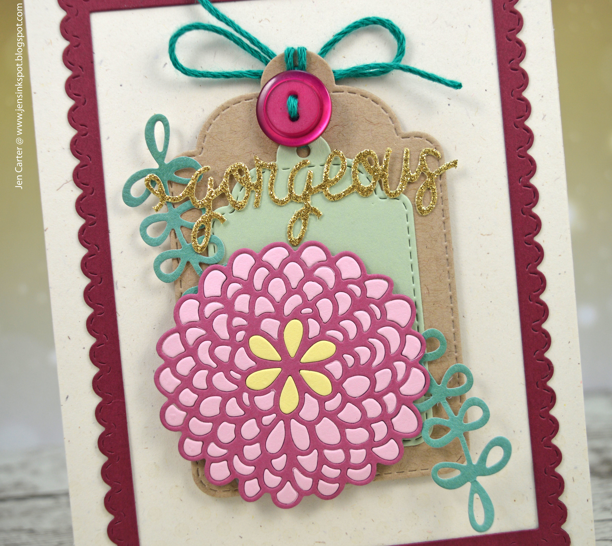 Jen Carter Gorgeous Lacey Blooms1 Foliage Tag Closeup