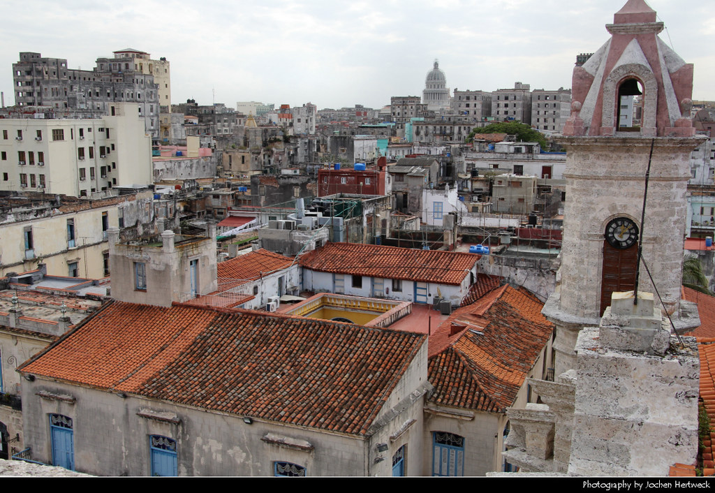 View from the belltower of Catedral de la Virgen María de la Concepción Inmaculada, Havana, Cuba